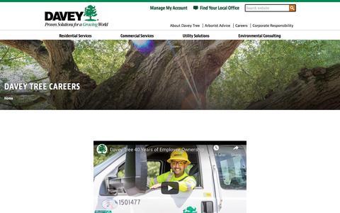 Screenshot of Jobs Page davey.com - Davey Tree Careers - captured July 15, 2019