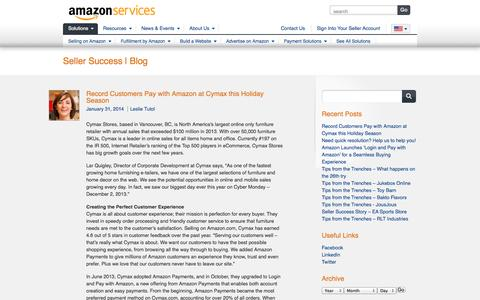Screenshot of Blog amazon.com - Amazon Services Seller Success Blog - captured Sept. 13, 2014