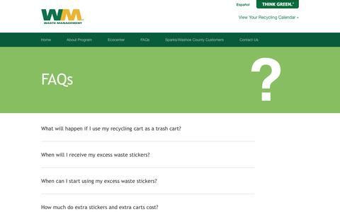 Screenshot of FAQ Page wm.com - FAQs | Waste Management Single-Stream Recycling - captured Sept. 18, 2014