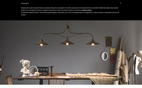 Screenshot of Home Page ilfanale.com - Lampade da interno e esterno Made in Italy in ottone, ferro, rame - captured Feb. 10, 2016