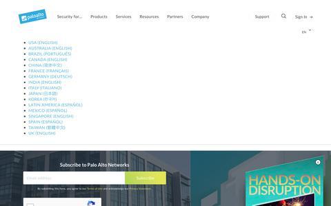 Languages - Palo Alto Networks
