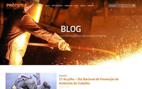 Screenshot of Blog protenge.com.br - Blog - Protenge EPI com Engenharia - captured Sept. 30, 2018