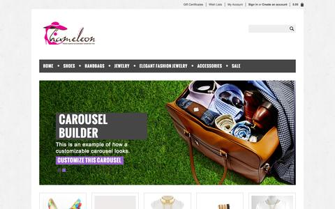 Screenshot of Home Page shopchameleon.com - Cheap Fashion Accessories Online | Unusual Unique Handbags | Online Accessories Boutique - Shop Chameleon - captured Oct. 4, 2014