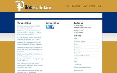 Screenshot of Press Page pilotbulletins.net - News - captured Oct. 2, 2014