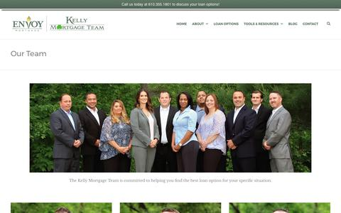 Screenshot of Team Page kellymortgageteam.com - Our Team | Kelly Mortgage Team - captured June 9, 2017