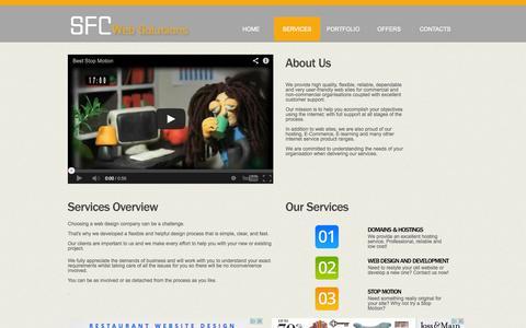 Screenshot of Services Page cbiz-design.com - Websites, E-learning, E-commerce,  Hosting low cost | SFC - captured Oct. 1, 2014