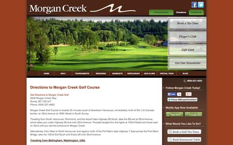 Screenshot of Maps & Directions Page morgancreekgolf.com - Directions | Morgan Creek Golf Course - captured Oct. 7, 2014
