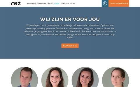 Screenshot of Team Page mett.nl - Het team van Mett - captured Feb. 3, 2016