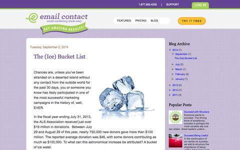 Screenshot of Blog emailcontact.com - Email Marketing Blog  I  Email Contact - captured Sept. 19, 2014