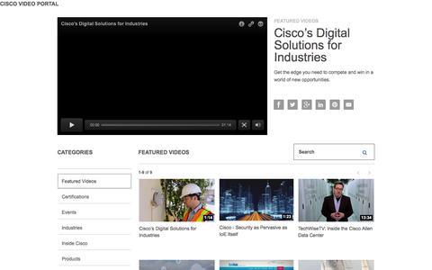 Screenshot of Products Page Services Page cisco.com - Cisco Video Portal - captured Dec. 2, 2015