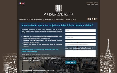Screenshot of Contact Page appartonaute.com - Contactez-nous pour trouver votre appartement - Appartonaute, les trouveurs de votre appartement - captured Sept. 30, 2014