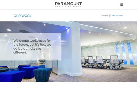 Screenshot of Case Studies Page paramountinteriors.com - Our Office Design Work | Case Studies | Paramount Interiors - captured Dec. 27, 2016