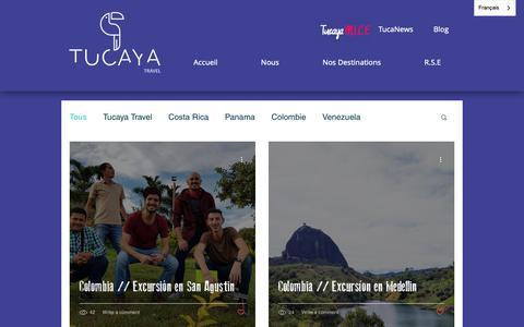 Screenshot of Blog tucayatravel.com - Blog, conseils | Tucaya Travel - captured Nov. 16, 2018