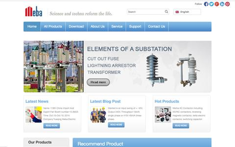 Screenshot of Terms Page meba.net - Air Circuit Breakers | Plastic Distribution Boxes | AC Contactor | KWH Meters - China Supplier and Manufacturer - Yueqing Meba Electric Enterprises. - captured Oct. 27, 2014