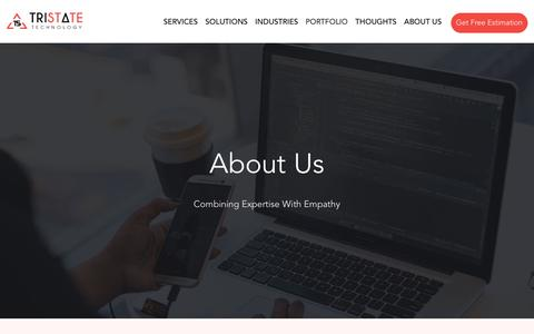 Screenshot of About Page tristatetechnology.com - About Us – Best Mobile Apps Development Company - captured Aug. 14, 2019