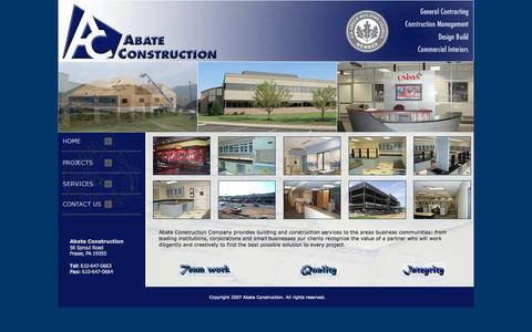 Screenshot of Home Page abateconstruction.com - Abate Construction - captured Oct. 4, 2014