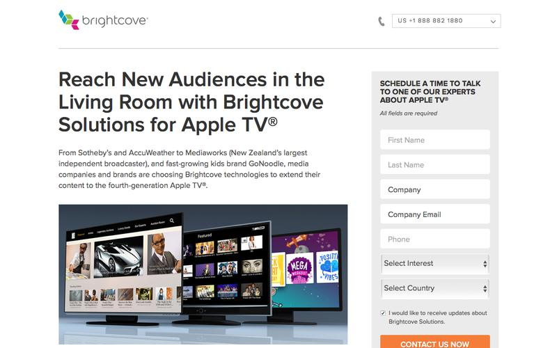 Brightcove |  Reach New Audiences in the Living Room with Brightcove Solutions for Apple TV®