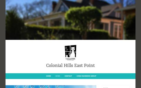 Screenshot of Press Page wordpress.com - Blog – Colonial Hills East Point - captured Sept. 28, 2018