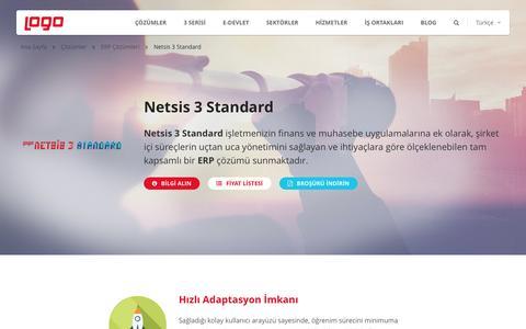 Netsis 3 Standard | ERP Çözümleri | Logo Yazılım