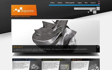 Screenshot of Home Page digisens3d.com - Tomography software range - Home - Digisens - captured Oct. 5, 2014