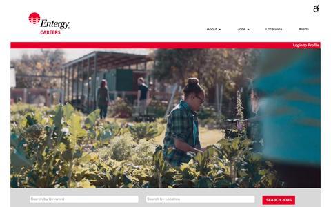 Screenshot of Jobs Page entergy.com - Jobs at Entergy - captured April 26, 2018