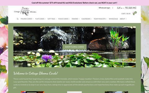 Screenshot of Home Page cottagebloomscards.com - Home - Cottage Blooms Cards - captured Sept. 29, 2018