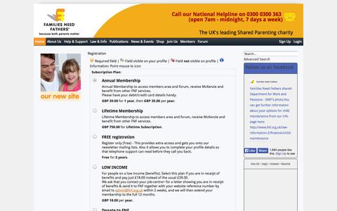 Screenshot of Signup Page fnf.org.uk - Registration - captured Nov. 3, 2014