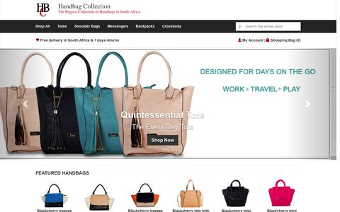 Screenshot of Home Page handbag-collection.co.za - Buy Handbags Online | HANDBAG COLLECTION - captured Sept. 23, 2014