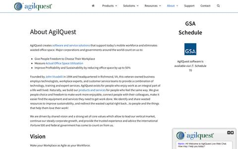 Screenshot of About Page agilquest.com - About AgilQuest | Guide to AgilQuest | AgilQuest - captured May 29, 2017