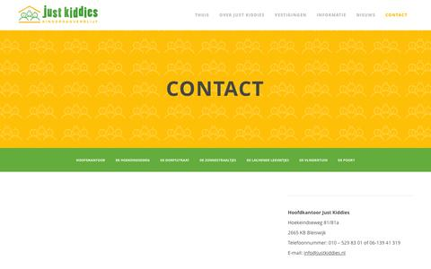 Screenshot of Contact Page justkiddies.nl - Contact | Just Kiddies - captured Jan. 9, 2016