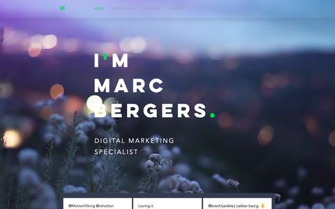 Screenshot of Home Page marcbergers.com - Marcbergers.com | Amsterdam | Marketing Strategy - captured Oct. 16, 2018