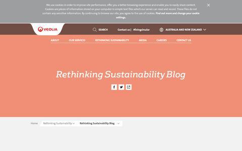 Screenshot of Blog veolia.com - Rethinking Sustainability Blog | Veolia Australia and New Zealand - captured Sept. 22, 2018