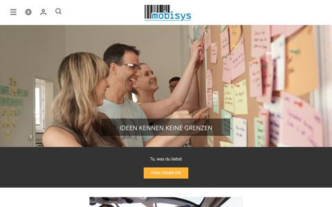 Screenshot of Jobs Page mobisys.com - Work@ - Mobisys GmbH - captured July 10, 2018