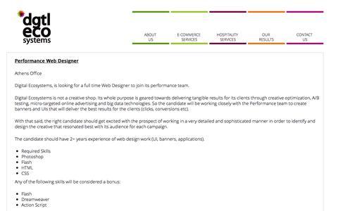 Screenshot of Jobs Page digitalecosystems.com - Jobs - Digital EcosystemsDigital Ecosystems - captured Nov. 24, 2016