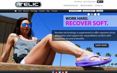 Screenshot of Home Page telic.com - Telic - Recovery Footwear - captured Feb. 24, 2016