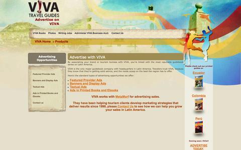 Screenshot of Products Page vivatravelguides.com - V!VA Travel Guides - captured Oct. 27, 2014