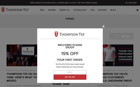 Press Archives  - Thompson Tee Blog