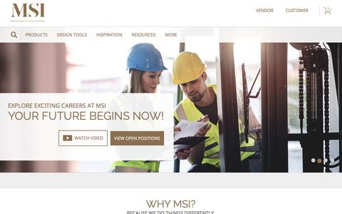 Screenshot of Jobs Page msistone.com - Careers | M S International, Inc. | Premium Surfaces - captured July 25, 2018