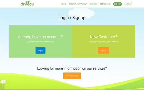 Screenshot of Login Page dryeco.com - Login - Dryeco - captured Oct. 13, 2017