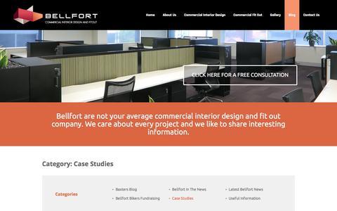 Screenshot of Case Studies Page bellfort.com.au - Case Studies Archives - Bellfort - captured Oct. 10, 2017