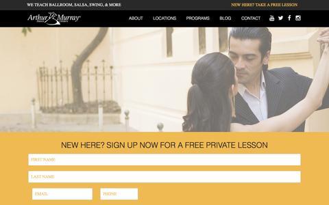 Screenshot of About Page arthurmurraylive.com - About Arthur Murray   Arthur Murray International Dance Studios - captured Feb. 6, 2016