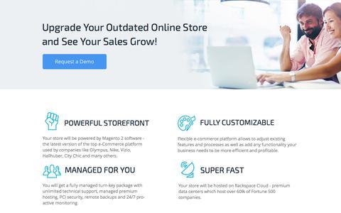 Screenshot of Landing Page finestshops.com - FinestShops Small Business e-Commerce Package - captured May 31, 2016