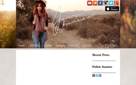 Screenshot of Blog jasminecommercemusic.com - Jasmine Commerce Music- Blog - captured Feb. 24, 2018