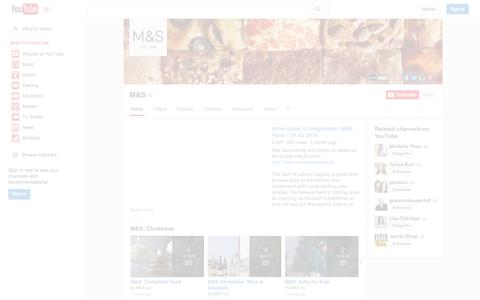 Screenshot of YouTube Page youtube.com - M&S  - YouTube - captured Oct. 23, 2014