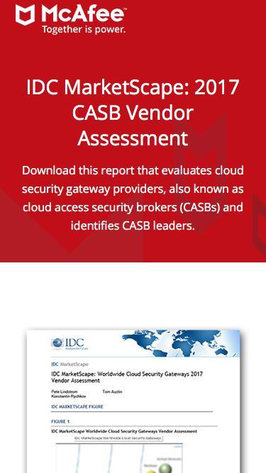 IDC MarketScape: 2017 CASB Vendor Assessment