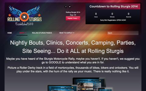 Screenshot of About Page rollingsturgis.com - ABOUT | Rolling Sturgis - captured Oct. 7, 2014