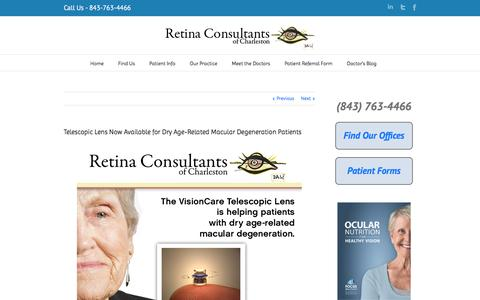 Telescopic Lens Now Available for Dry Age-Related Macular Degeneration Patients | Retina Consultants of Charleston