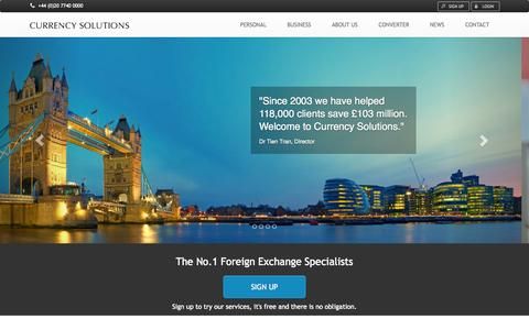 Screenshot of Home Page currencysolutions.co.uk - Currency Solutions | Currency Solutions - captured Sept. 23, 2014