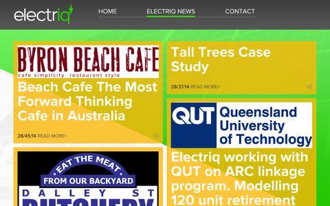 Screenshot of Blog electriq.com - Electriq News — Electriq - captured Oct. 28, 2014