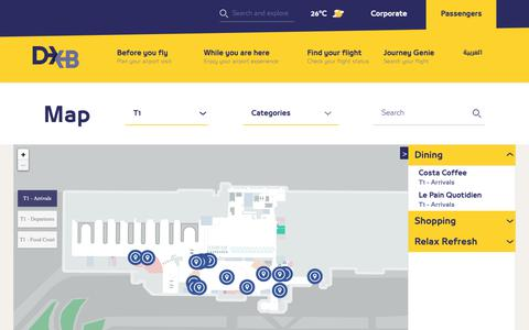 Screenshot of Maps & Directions Page dubaiairports.ae - Map | Dubai Airports - captured April 26, 2019